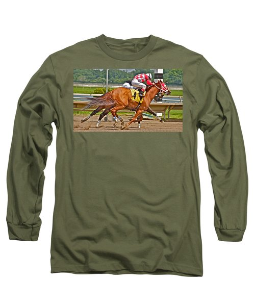Long Sleeve T-Shirt featuring the photograph  Betting On Number Four by Alice Gipson