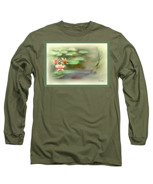 Long Sleeve T-Shirt featuring the painting  Gold Fish Pond by Bonnie Willis