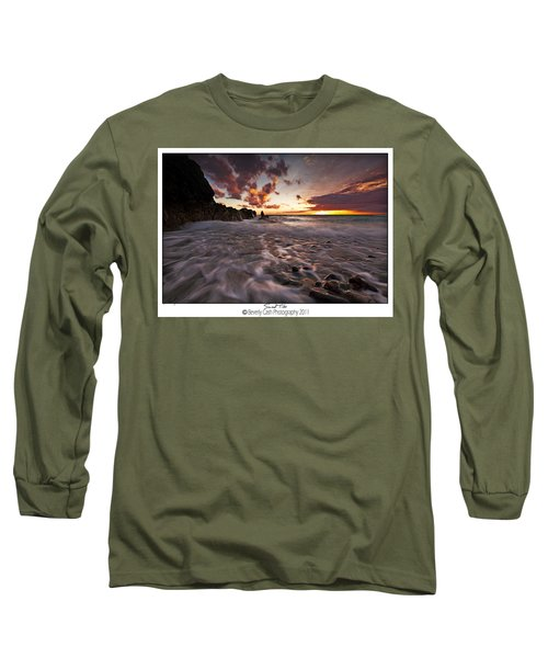 Sunset Tides - Porth Swtan Long Sleeve T-Shirt