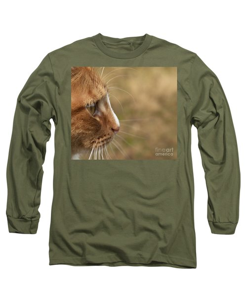 Long Sleeve T-Shirt featuring the photograph Flitwick The Cat by Jeannette Hunt