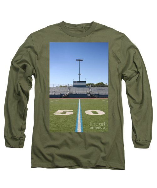 Long Sleeve T-Shirt featuring the photograph Football Field Fifty by Henrik Lehnerer