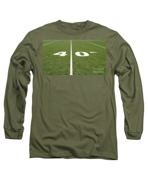Long Sleeve T-Shirt featuring the photograph Football Field Forty by Henrik Lehnerer