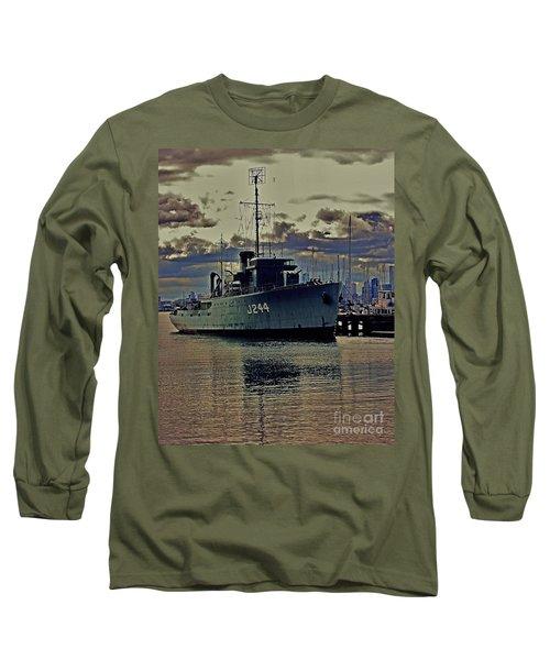 Long Sleeve T-Shirt featuring the photograph Hmas Castlemaine 3 by Blair Stuart