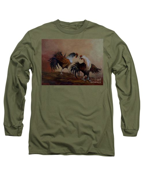 Rooster Fight Long Sleeve T-Shirt