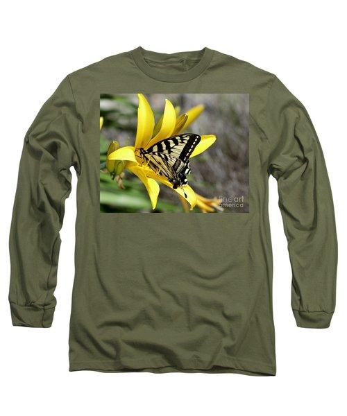 Swallowtail Yellow Lily Long Sleeve T-Shirt