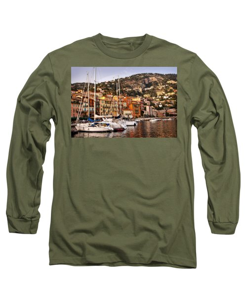 Long Sleeve T-Shirt featuring the photograph Villefranche-sur-mer  by Steven Sparks