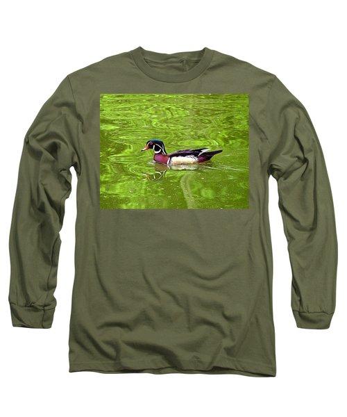 Water Wood Duck Long Sleeve T-Shirt