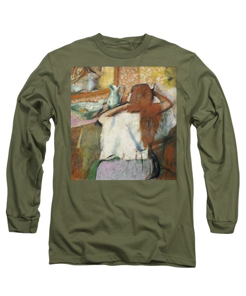 Woman At Her Toilet Long Sleeve T-Shirt