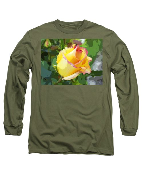 Long Sleeve T-Shirt featuring the photograph Yellow Rose by Anne Mott