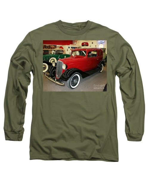 Long Sleeve T-Shirt featuring the photograph 1930's Antique Chevrolet Sedan by John Black