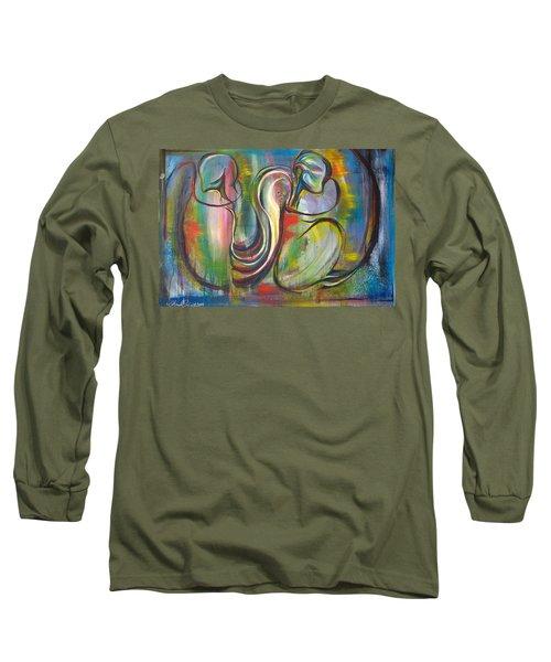 2 Snails And 3 Elephants Long Sleeve T-Shirt by Sheridan Furrer