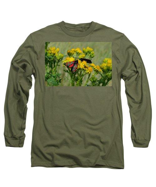 6 Spot Burnet Long Sleeve T-Shirt by Barbara Walsh