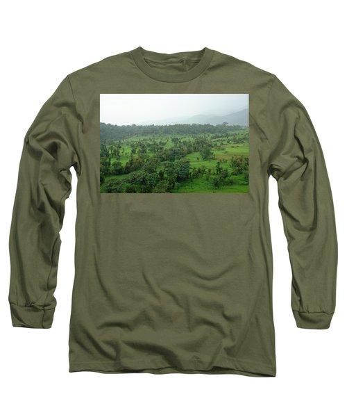 A Beautiful Green Countryside Long Sleeve T-Shirt