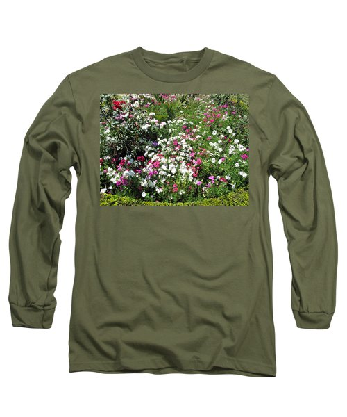 Long Sleeve T-Shirt featuring the photograph A Bed Of Beautiful Different Color Flowers by Ashish Agarwal