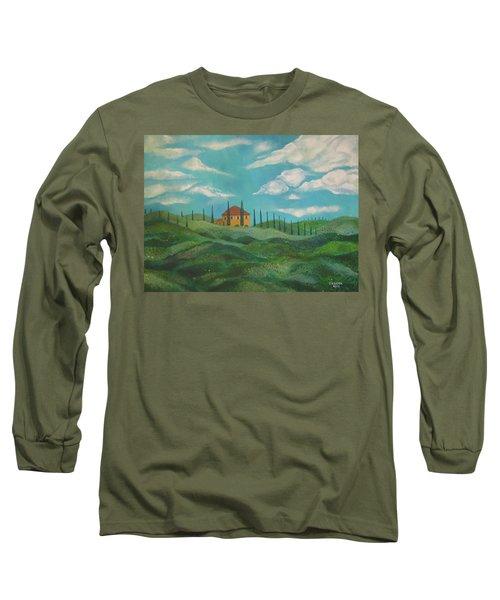 A Day In Tuscany Long Sleeve T-Shirt by John Keaton