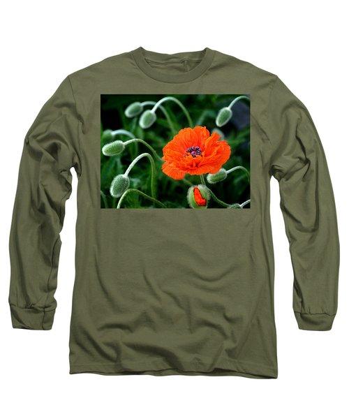 A Flower In Medusa's Hair Long Sleeve T-Shirt