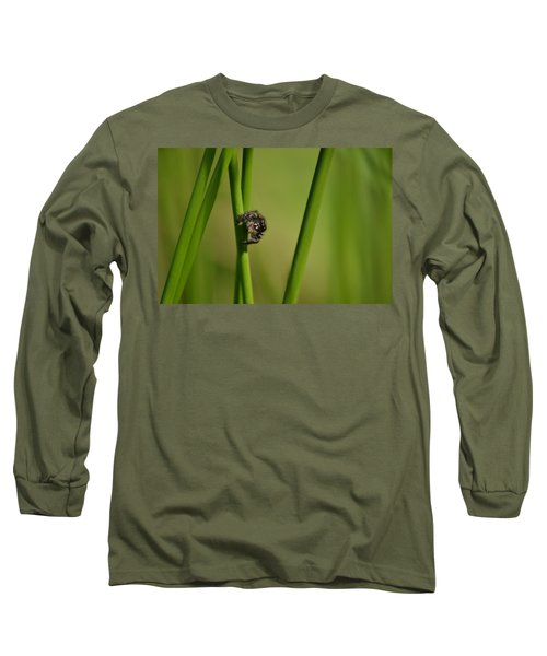 Long Sleeve T-Shirt featuring the photograph A Jumper In The Grass by JD Grimes