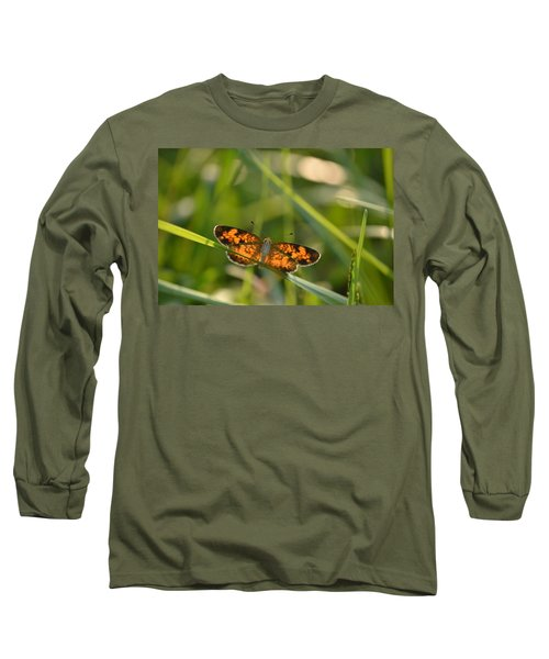Long Sleeve T-Shirt featuring the photograph A Pearl In The Grass by JD Grimes