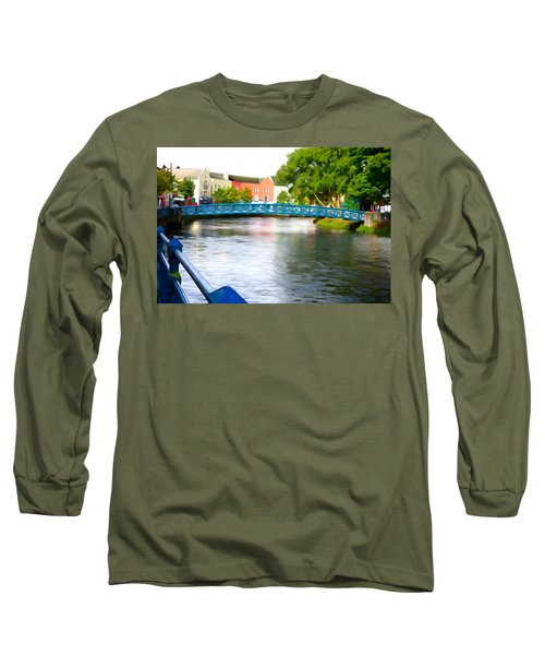 Long Sleeve T-Shirt featuring the photograph A River Runs Through It by Charlie and Norma Brock
