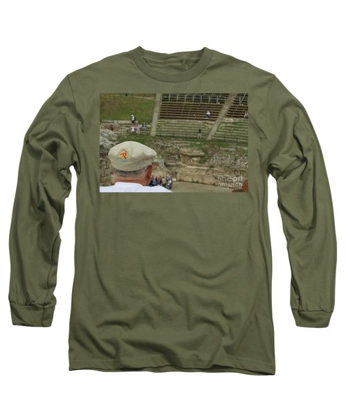 A Tourist And The Ancient Theater Of Taormina Long Sleeve T-Shirt
