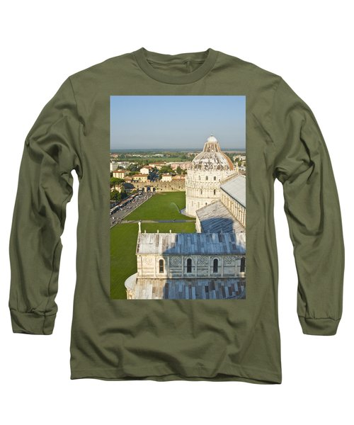 A View From The Bell Tower Of Pisa  Long Sleeve T-Shirt