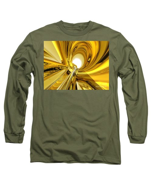 Long Sleeve T-Shirt featuring the digital art Abstract Gold Rings by Phil Perkins