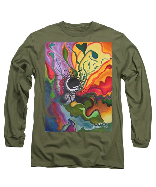 Abstract Underwater Anemone Long Sleeve T-Shirt