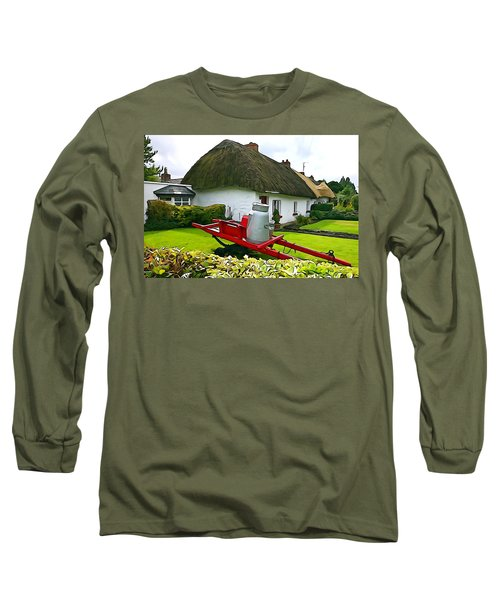 Long Sleeve T-Shirt featuring the photograph Adare Cottage by Charlie and Norma Brock