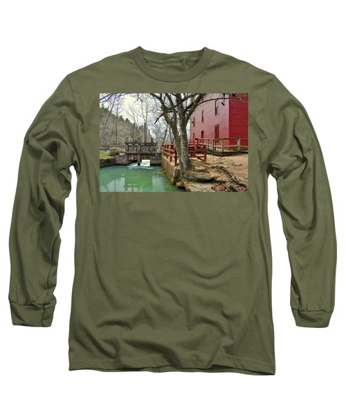 Long Sleeve T-Shirt featuring the photograph Alley Spring Mill 34 by Marty Koch