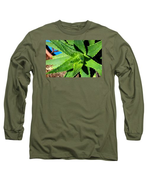 Long Sleeve T-Shirt featuring the photograph Aloe by M Diane Bonaparte