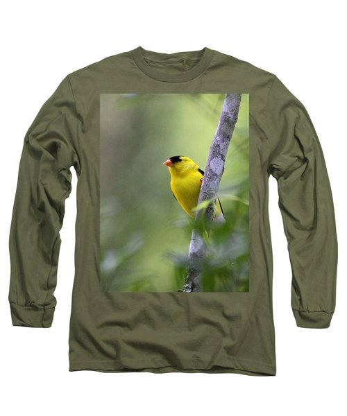 American Goldfinch - Peaceful Long Sleeve T-Shirt by Travis Truelove