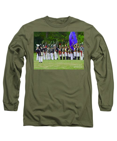 Long Sleeve T-Shirt featuring the photograph American Line by JT Lewis