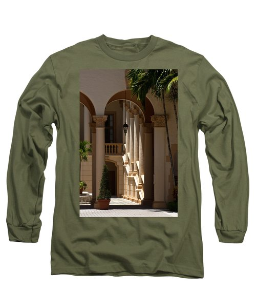 Long Sleeve T-Shirt featuring the photograph Arches And Columns At The Biltmore Hotel by Ed Gleichman