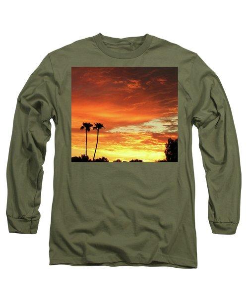 Arizona Sunrise 02 Long Sleeve T-Shirt by Rand Swift