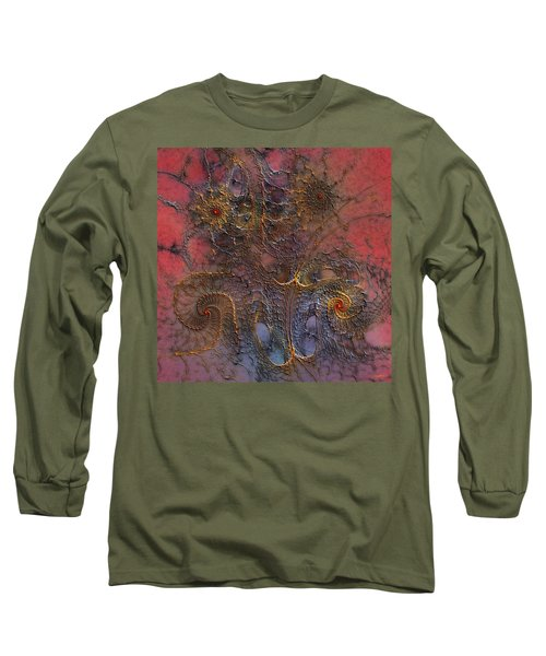 Long Sleeve T-Shirt featuring the digital art At The Moment by Casey Kotas