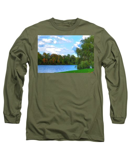 Long Sleeve T-Shirt featuring the photograph Autumn At Hoyt Lake by Michael Frank Jr