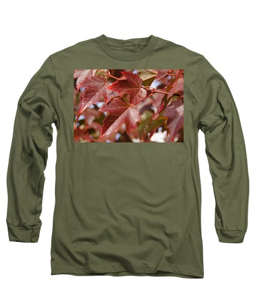 Autumn In My Back Yard Long Sleeve T-Shirt by Mick Anderson