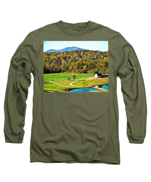 Long Sleeve T-Shirt featuring the photograph Autumn On The Farn by Susan Leggett