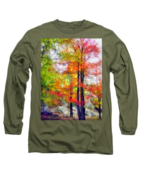Autumnal Rainbow Long Sleeve T-Shirt