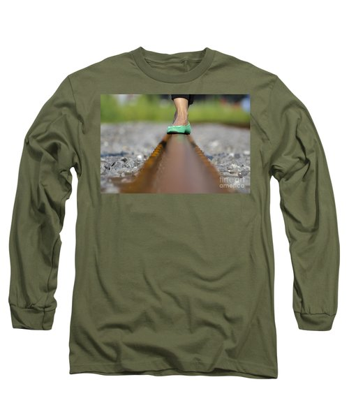 Balance With Her Feet Long Sleeve T-Shirt
