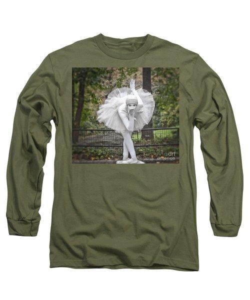 Ballerina In The Park Long Sleeve T-Shirt by Loriannah Hespe