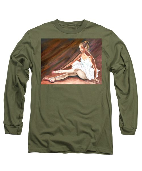 Long Sleeve T-Shirt featuring the painting Ballet Dancer by Clara Sue Beym