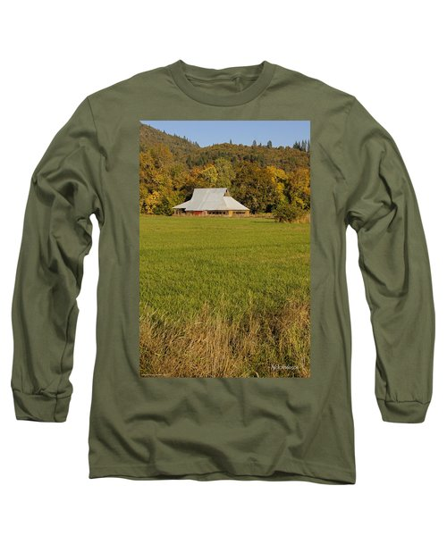 Barn Near Murphy Long Sleeve T-Shirt by Mick Anderson