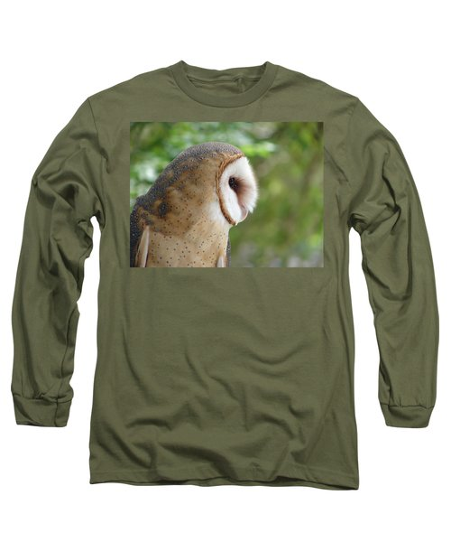 Barn Owl Long Sleeve T-Shirt by Randy J Heath