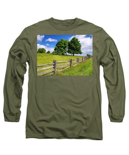 Beautiful Virginia Pasture Long Sleeve T-Shirt