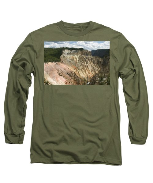 Beauty Of The Grand Canyon In Yellowstone Long Sleeve T-Shirt by Living Color Photography Lorraine Lynch