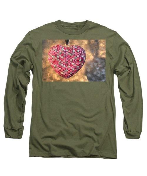 Bedazzle My Heart Long Sleeve T-Shirt by Shelley Neff