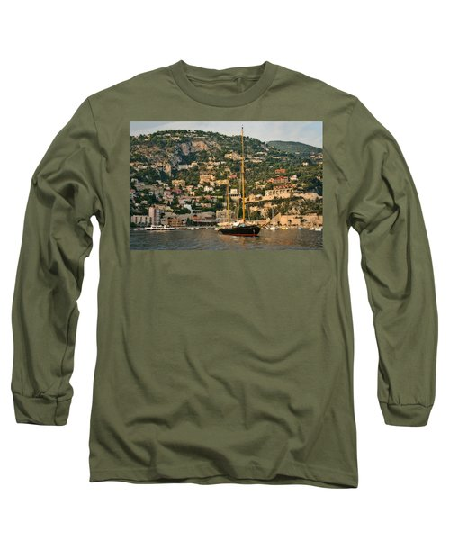 Long Sleeve T-Shirt featuring the photograph Black Sailboat by Steven Sparks