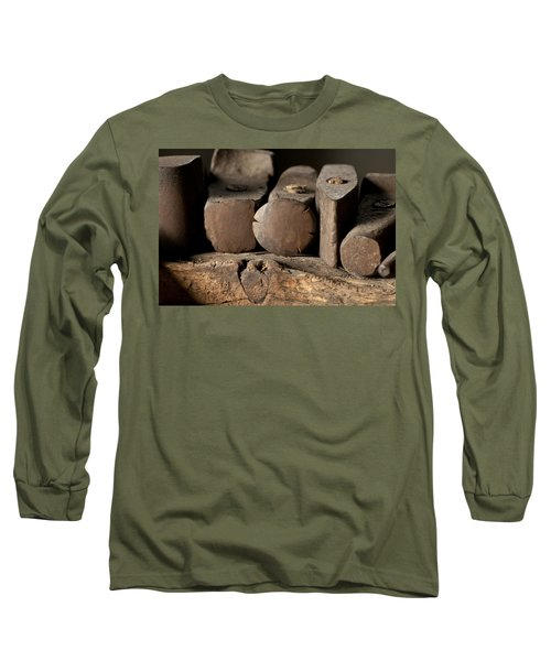 Blacksmith  Hammers Long Sleeve T-Shirt by Wilma  Birdwell
