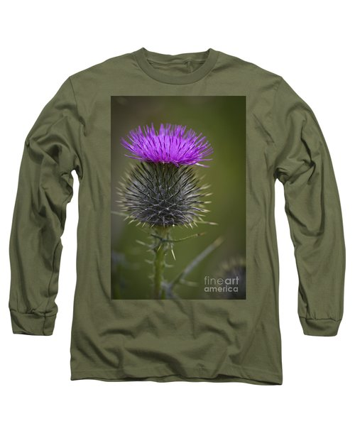 Blooming Thistle Long Sleeve T-Shirt by Clare Bambers
